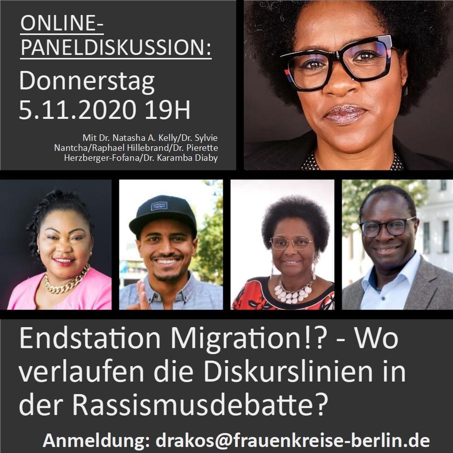 """""""Endstation Migration?! Wo verlaufen die Diskurslinien in der Rassismusdebatte?"""" 05.11.2020 um 19 Uhr"""