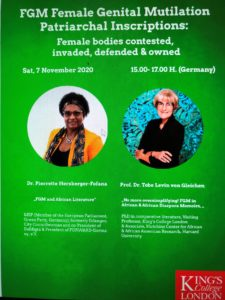Symposium: FGM Female Mutilation Patriarchal Inscription : Female bodies contested, invaded,defended & owned