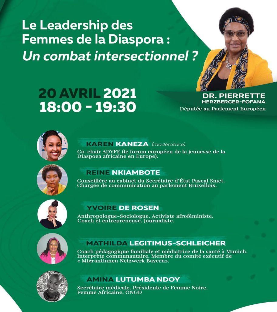 Visio-Conférence: «Le leadership des Femmes de la Diaspora : un combat intersectionnel ?»