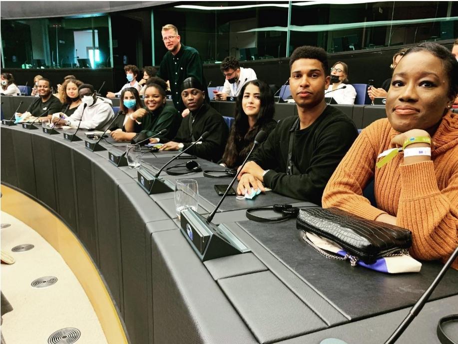 Nuremberg Black Lives Matter activists convince in the European Parliament